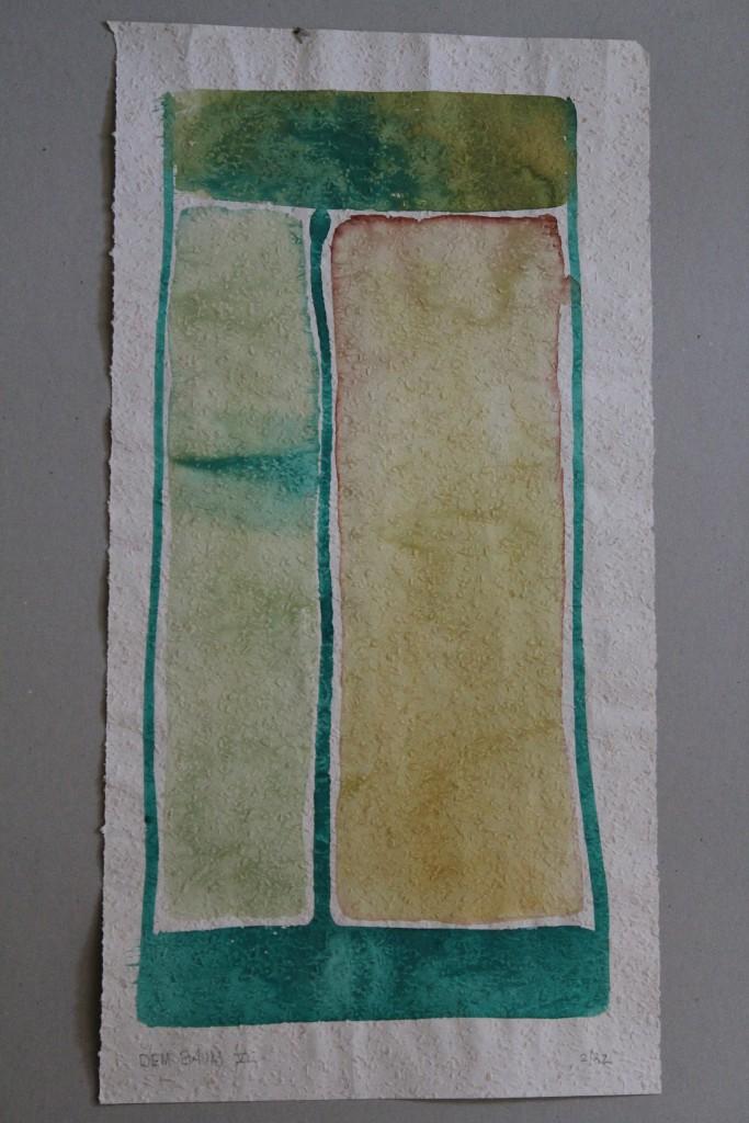 Dem Baum VI, Tempera auf Rauhfasertapete, 1982, 28 x 53