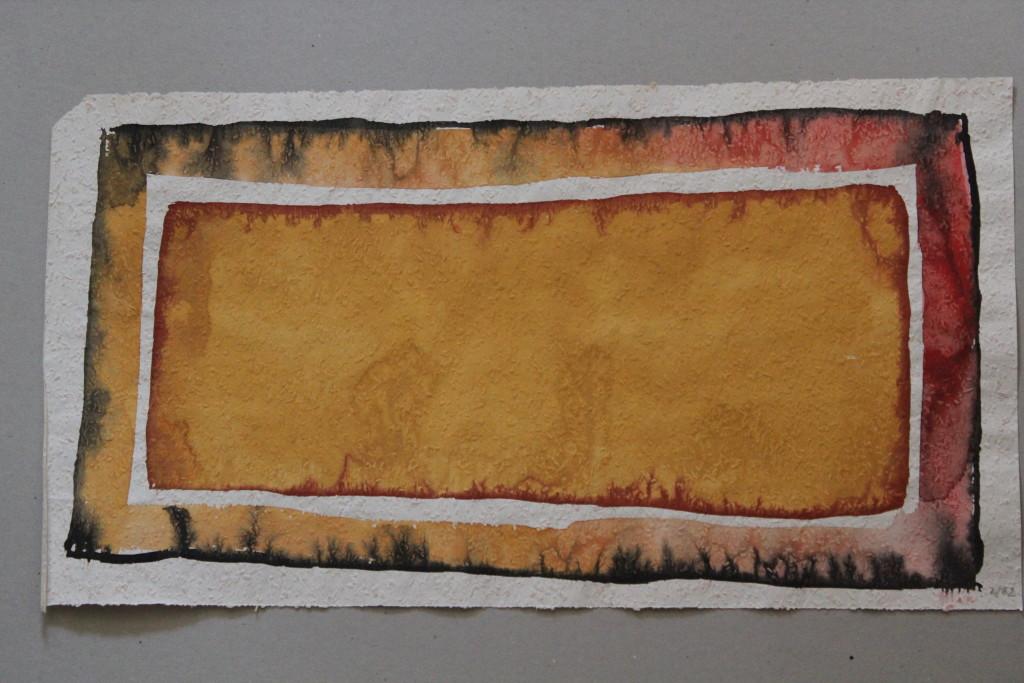 Feld (Grenzen), Tempera auf Rauhfasertapete, 1982, 53 x 29