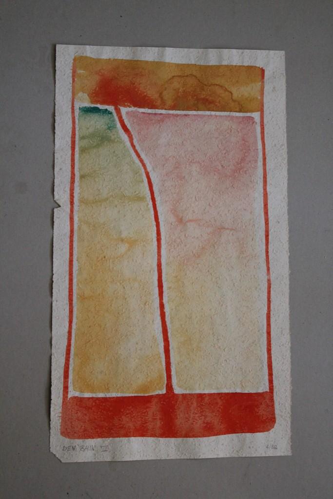 Dem Baum II, Tempera auf Rauhfasertapete, 1982, 32 x 53