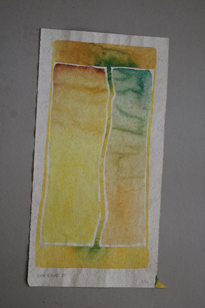 Dem Baum IV, Tempera auf Rauhfasertapete, 1982, 28 x 53