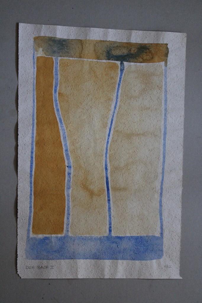Dem Baum V, Tempera auf Rauhfasertapete, 1982, 30 x 53