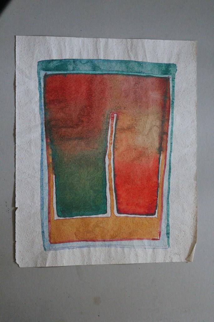 das geteilte Selbst, Tempera auf Rauhfasertapete, 1982, 43 x 53