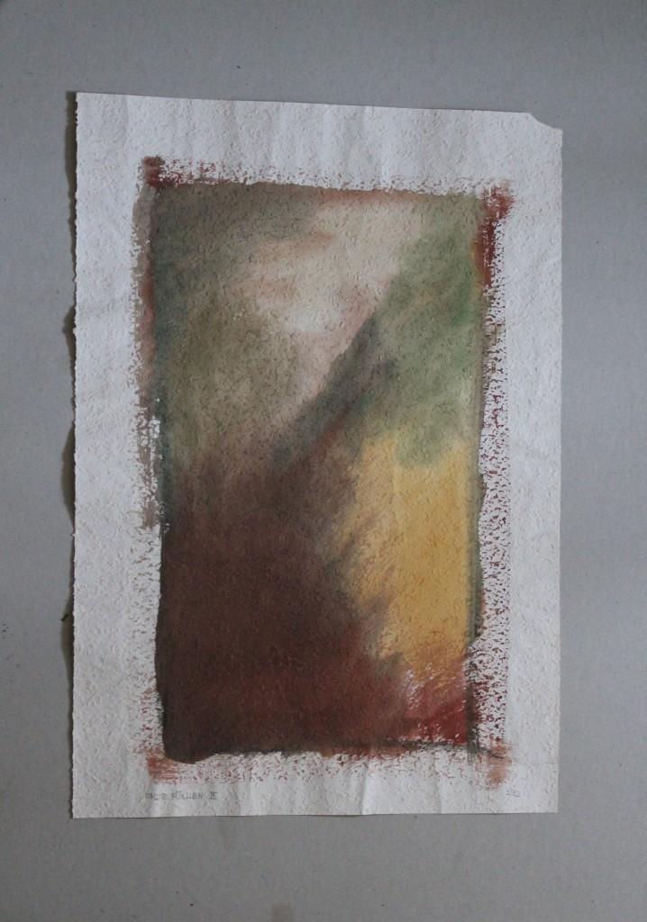 Erde füllen II, Tempera auf Rauhfasertapete, 1982, 37,5 x 53