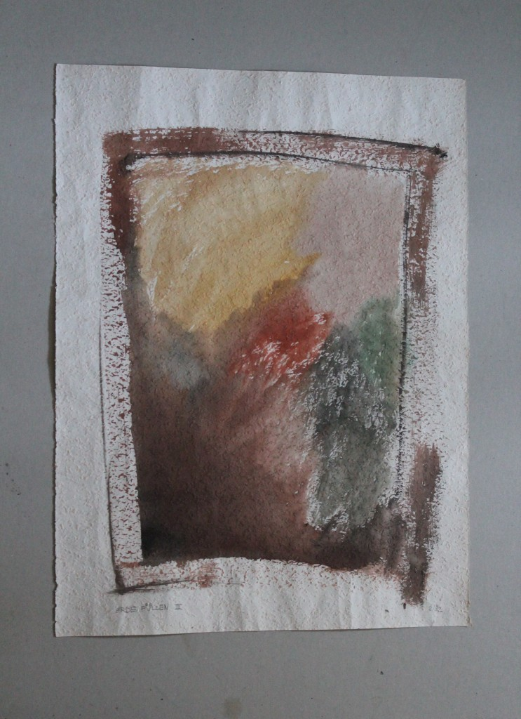 Erde füllen III, Tempera auf Rauhfasertapete, 1982, 37,5 x 53