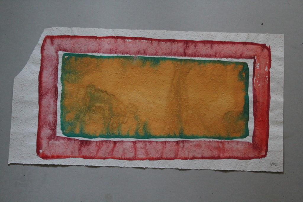 Feld (Grenzen), Tempera auf Rauhfasertapete, 1982, 53 x 27,5