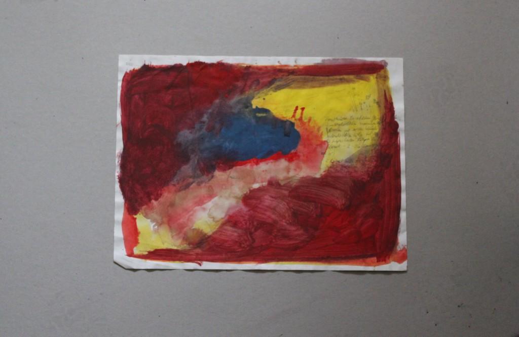 informelle Notizen, Tempera auf Papier, 80-er Jahre, 40 x 30