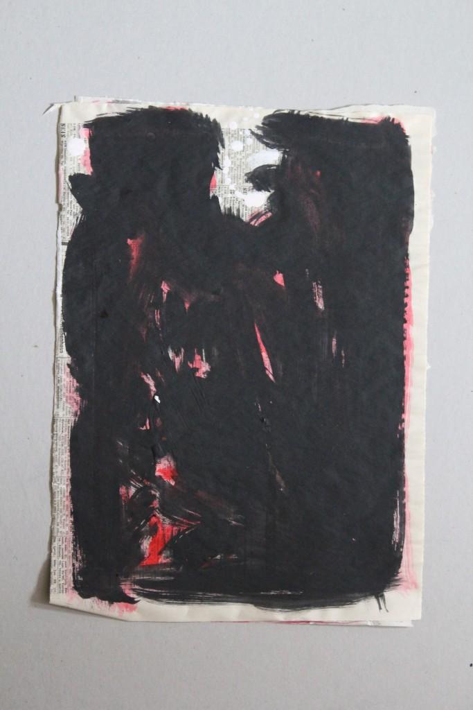 vom Ursprung (informell), Dispersion auf Zeitungspapier, 80-er Jahre, 29,5 x 41