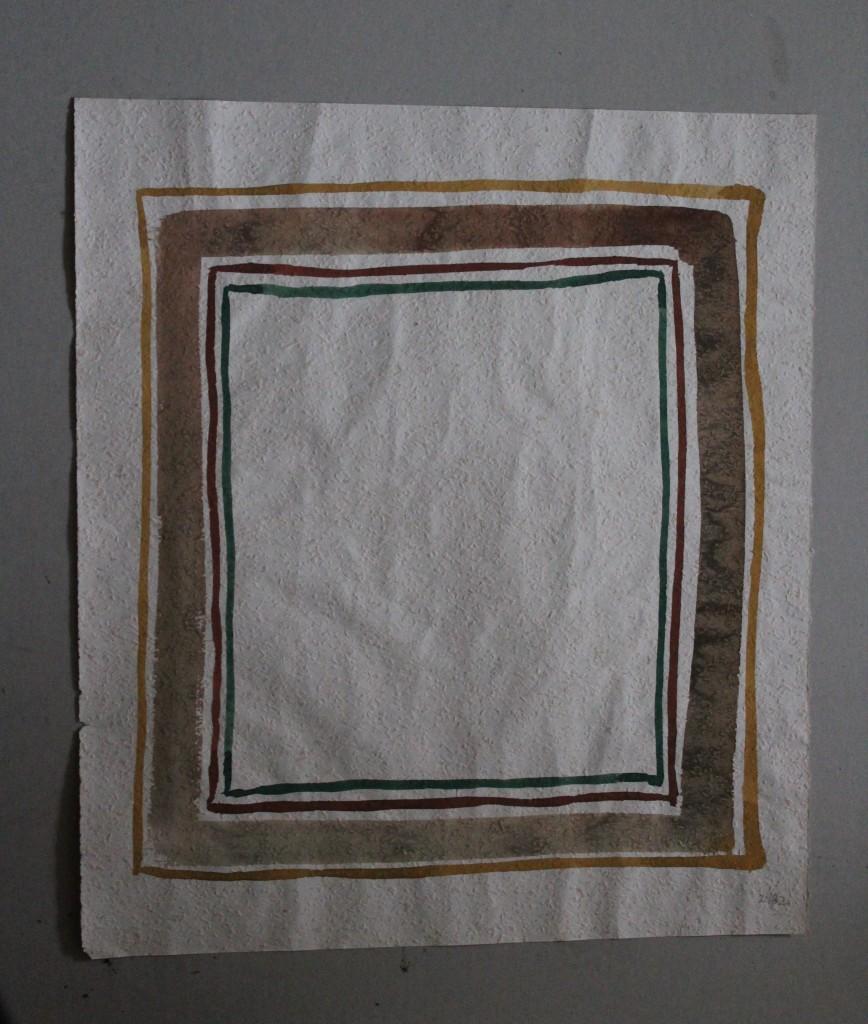 Borderline, Tempera auf Rauhfasertapete, 1982, 47 x 53