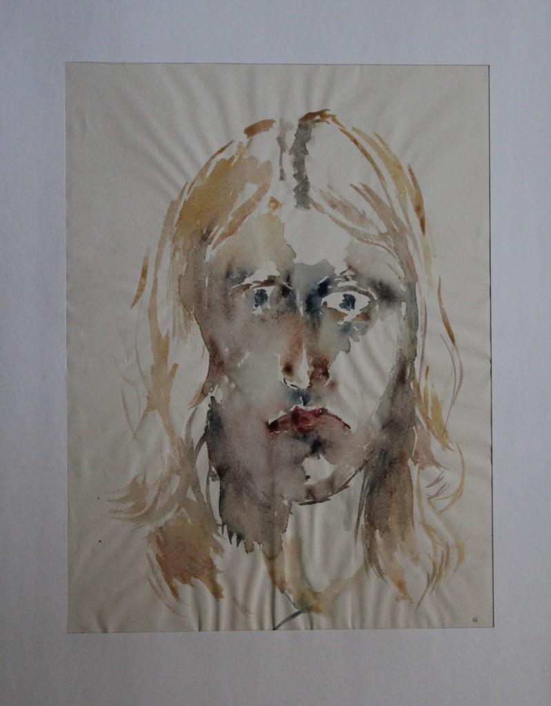 Selbst, Aquarell, Ende 70-er/Anfang 80-er Jahre, 29 x 38,5