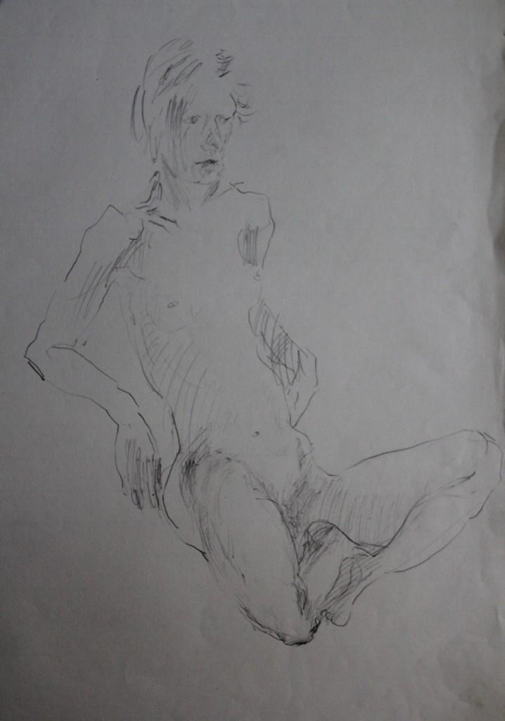 Akt, Bleistift auf Papier, 1985, 51 x 66