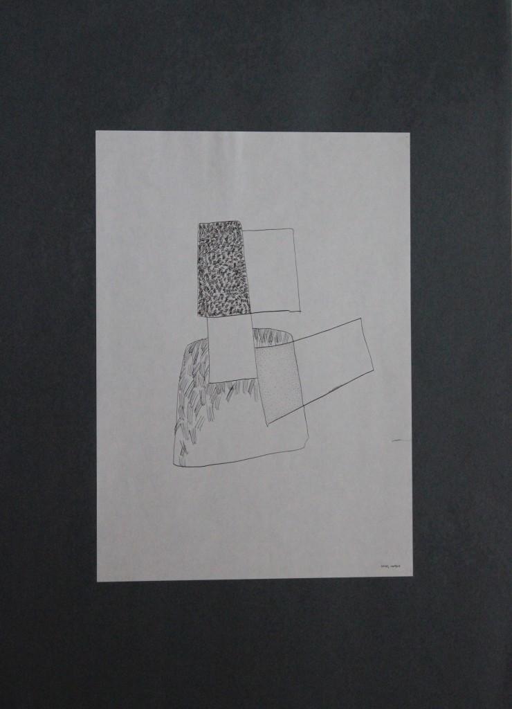 Geier, Feder/Tusche auf Papier, 80-er Jahre, 21 x 29,7