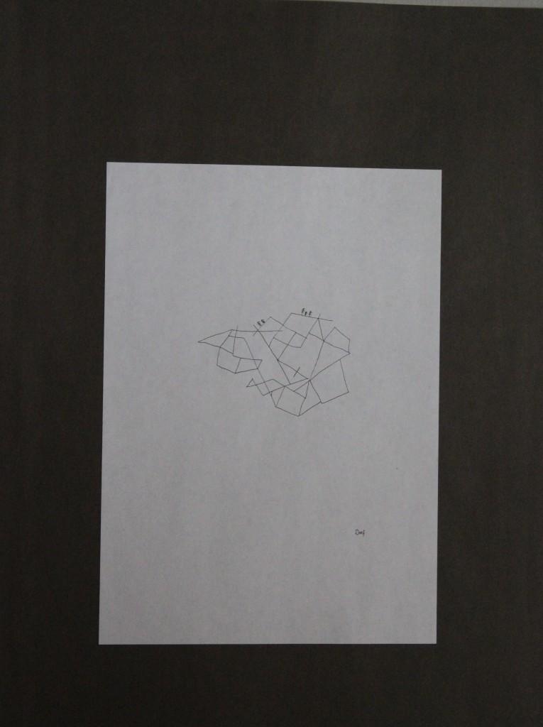 Dorf, Feder/Tusche auf Papier, 80-er Jahre, 21 x 29,7