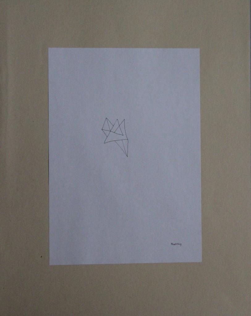 Froschkönig, Feder/Tusche auf Papier, 80-er Jahre, 21 x 29,7