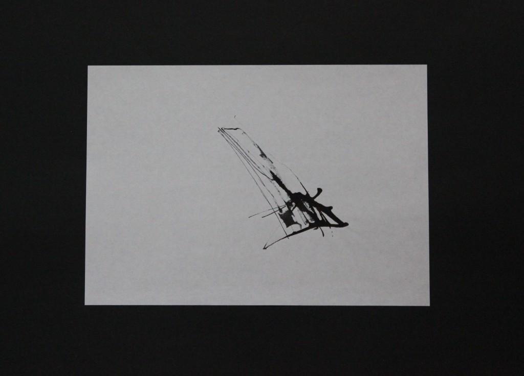 informelle Zeichnung, Rohrfeder/Tusche auf Papier, 80-er Jahre, 29,7 x 21