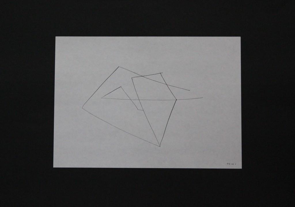 Brief nach X, Feder/Tusche auf Papier, 80-er Jahre, 29,7 x 21