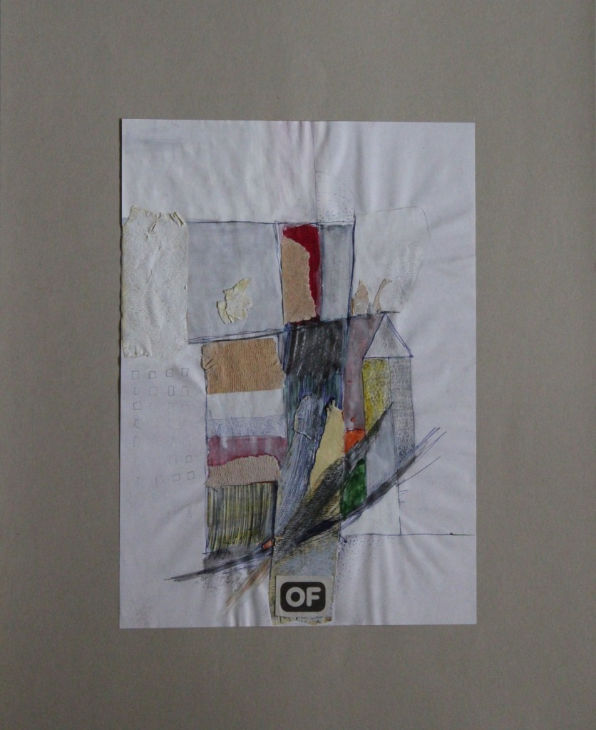 OF, Aquarell/Gouache, Krepp auf Papier, 80-er Jahre, 21 x 29,7