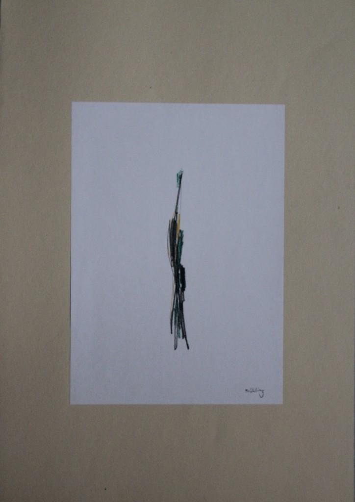 Frühling, Bleistift/Buntstift auf Papier, 80-er Jahre, 21 x 29,7