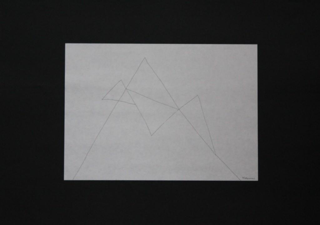 Fledermaus, Feder/Tusche auf Papier, 80-er Jahre, 29,7 x 21
