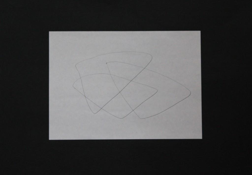 Sinus, Feder/Tusche auf Papier, 80-er Jahre, 29,7 x 21