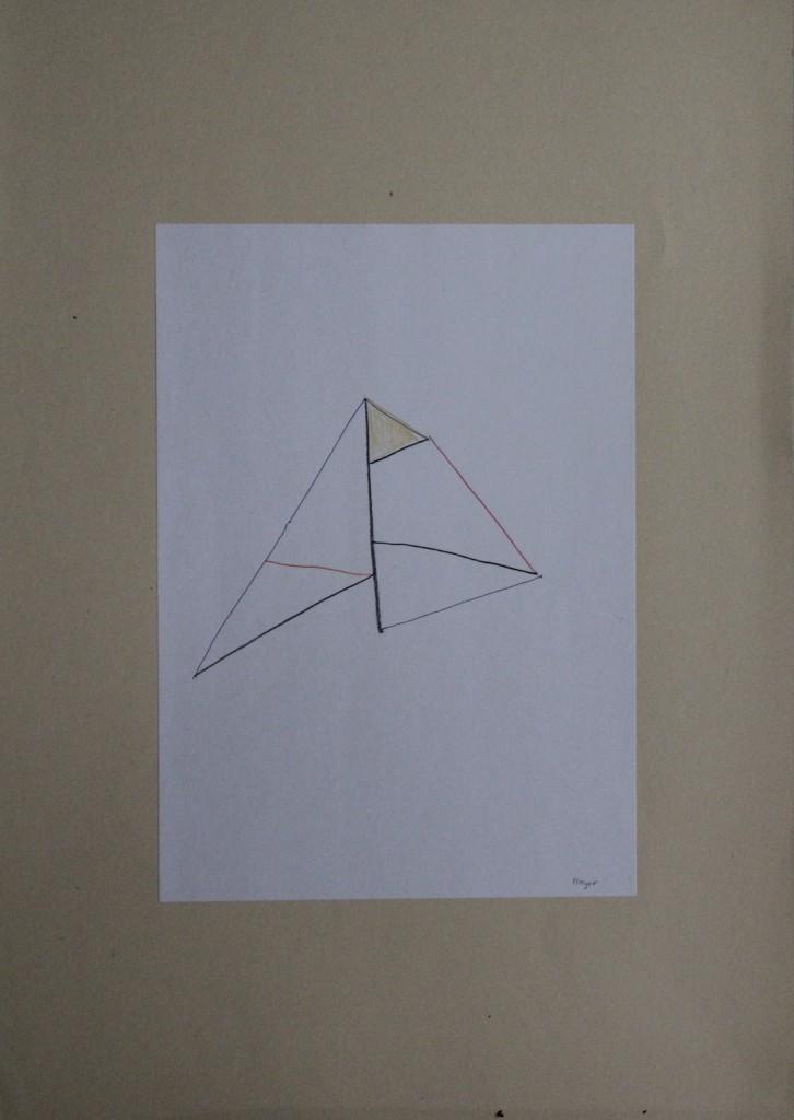 Flieger, Buntstift auf Papier, 80-er Jahre, 21 x 29,7