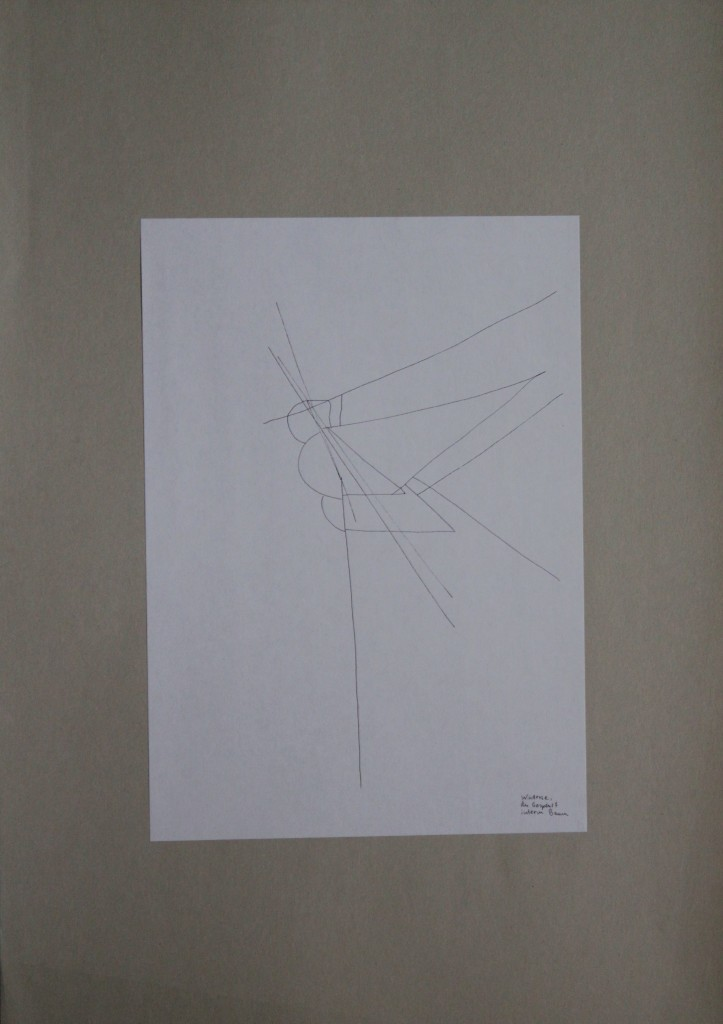 Windrose, das Gespenst hinterm Baum, Feder/Tusche auf Papier, 80-er Jahre, 21 x 29,7