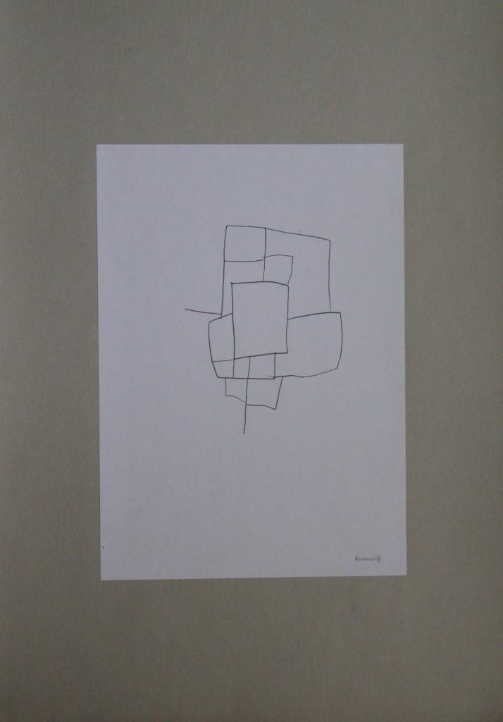Piratenschiff, Feder/Tusche auf Papier, 80-er Jahre, 21 x 29,7