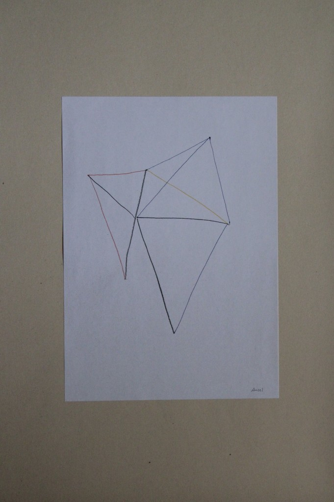 Amsel, Farbstift auf Papier, 80-er Jahre, 21 x 29,7