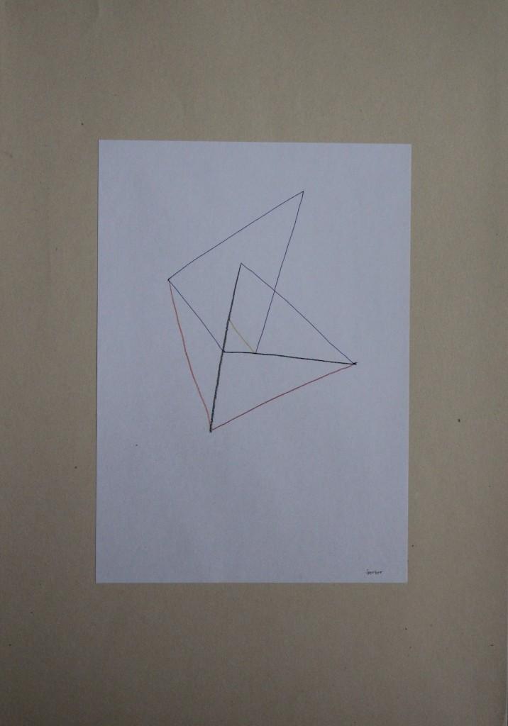Sperber, Farbstift auf Papier, 80-er Jahre, 21 x 29,7