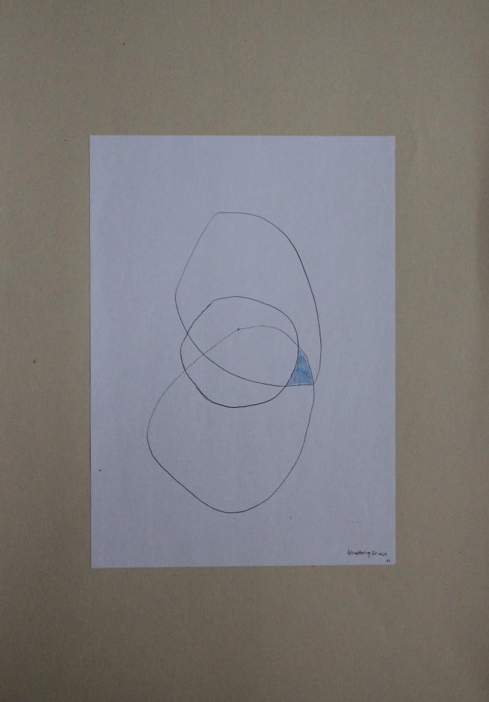 Schmetterling für mich, Feder/Tusche/Farbstift auf Papier,1983, 21 x 29,7