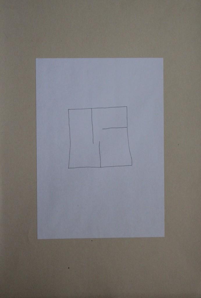 kleines Labyrinth, Feder/Tusche auf Papier, 80-er Jahre, 21 x 29,7