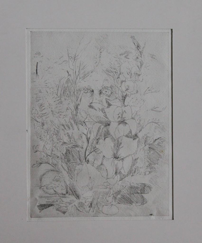 Blumen, Radierung, Ende 70-er Jahre, 15,5 x 20,5