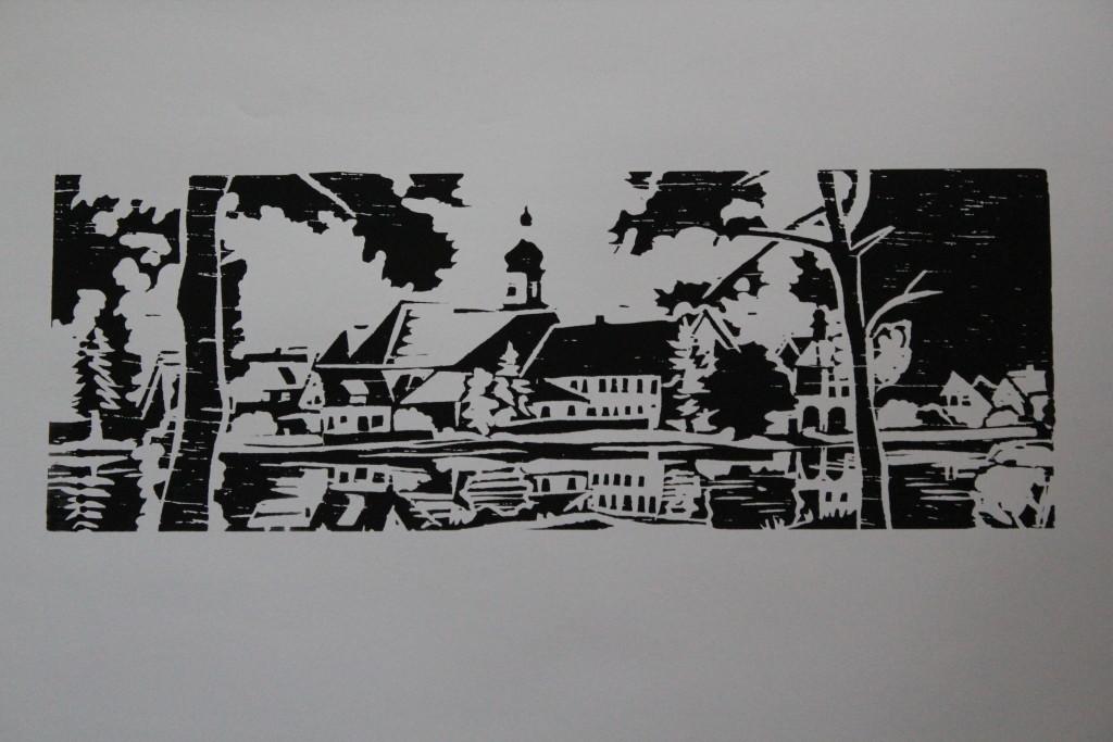Siebdruck, Anfang 80-er Jahre, 59,5 x 18