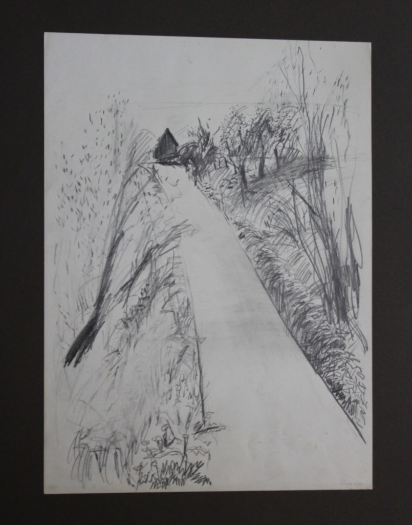 Weg, Bleistift auf Papier, Anfang 80-er Jahre, 33 x 45