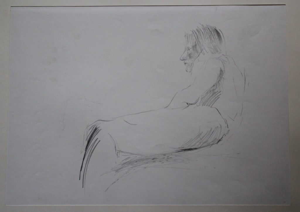 Figur, Bleistift auf Papier, 1982, 56 x 39