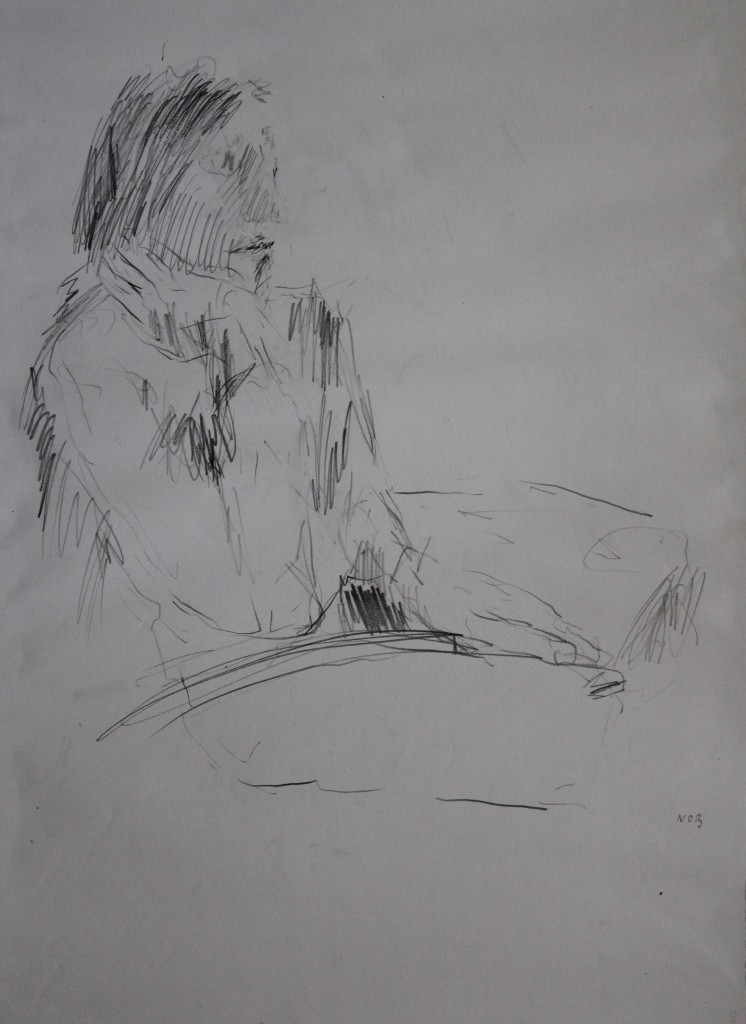 Nob, Bleistift auf Papier, Ende 70-er/Anfang 80-er Jahre, 59 x 42