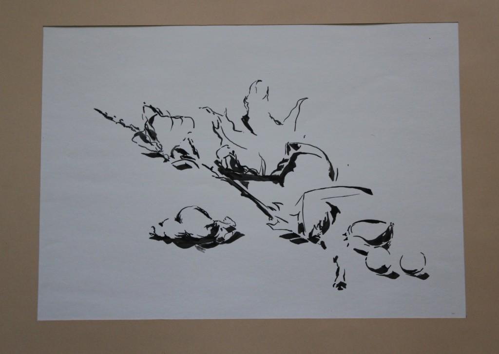 Stillleben, Gouache auf Papier, Anfang 80-er Jahre, 47 x 33