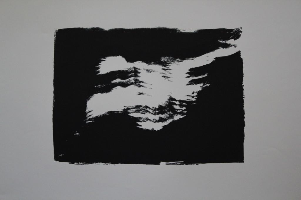 Schwarz-Weiß, Siebdruck, 80-er Jahre, 39 x 29