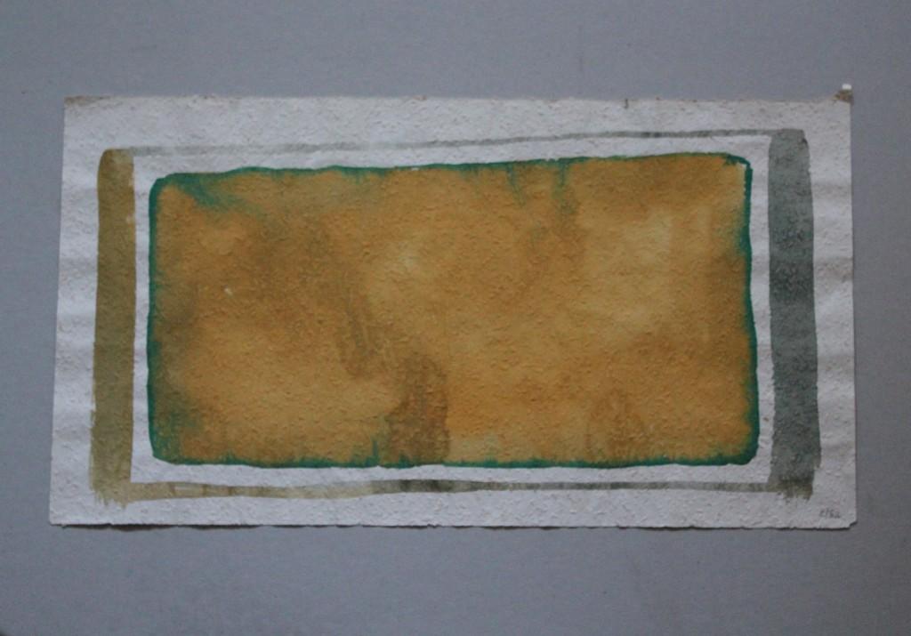 breites Feld, Tempera auf Rauhfasertapete, 1982, 53 x 29