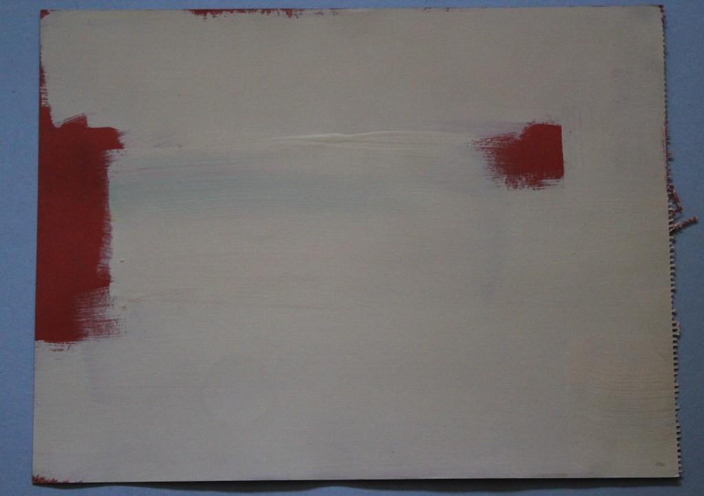 Rot sehen, Dispersion auf Karton, 1982, 56 x 42