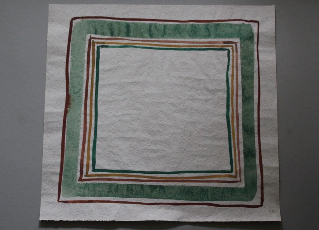 natürliche Grenzen, Tempera auf Rauhfasertapete, 1982, 53 x 50,5