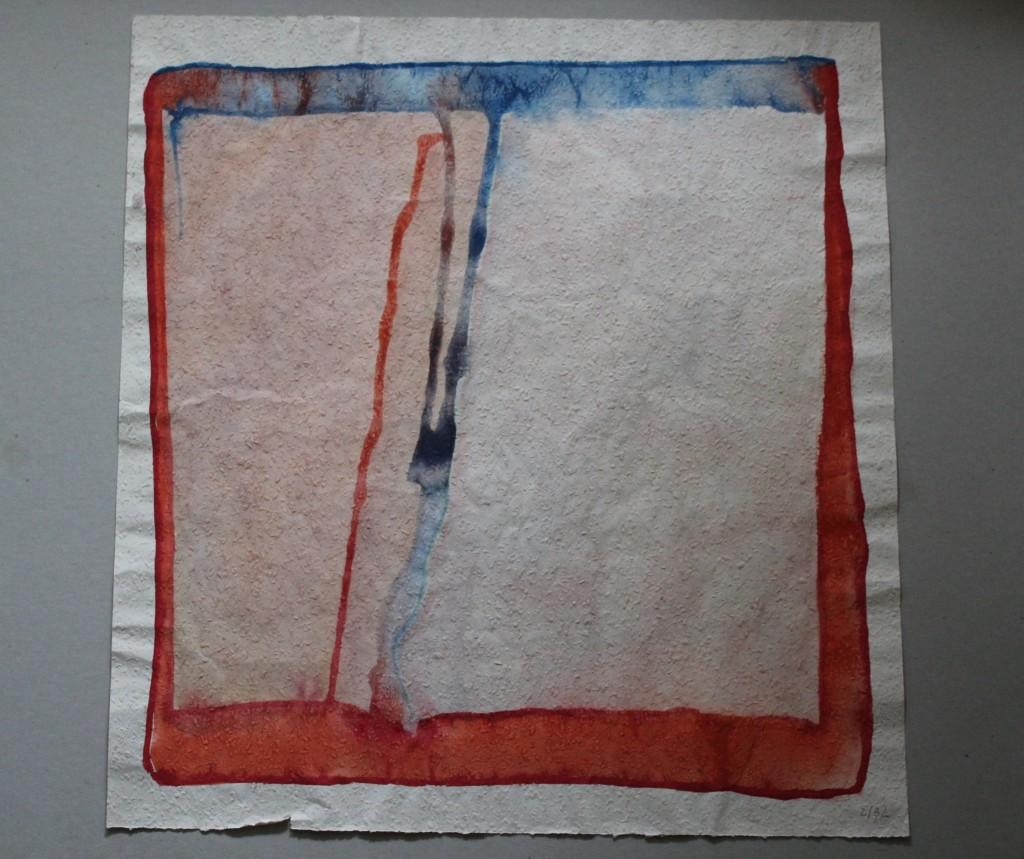 Spannung (+/-), Tempera auf Rauhfasertapete, 1982, 53 x 57
