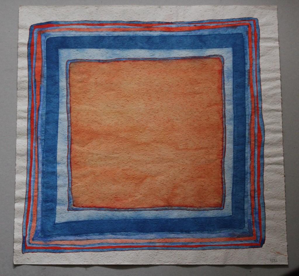 Problem mit Rahmen, Tempera auf Rauhfasertapete, 1982, 53 x 53