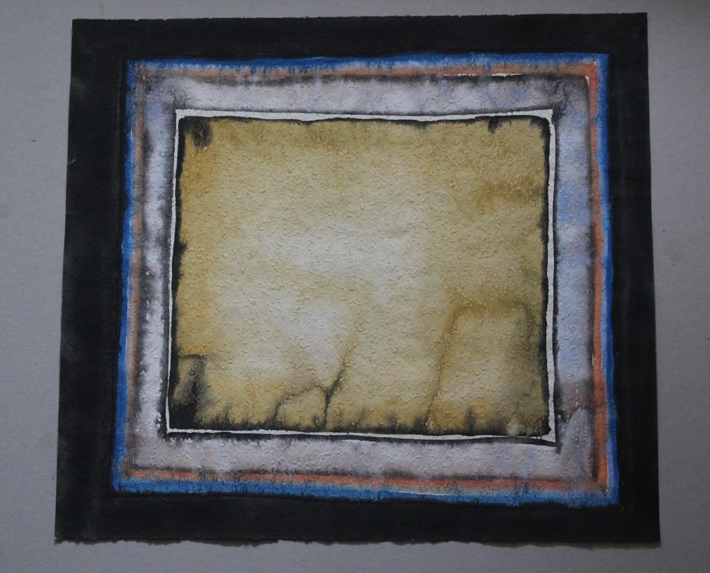 Feld der Trauer (Trauerarbeit), Tempera auf Rauhfasertapete, 1982, 53 x 47