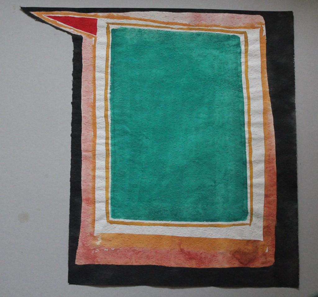 Feld des Vergessens, Tempera auf Rauhfasertapete, 1982, 43 x 53