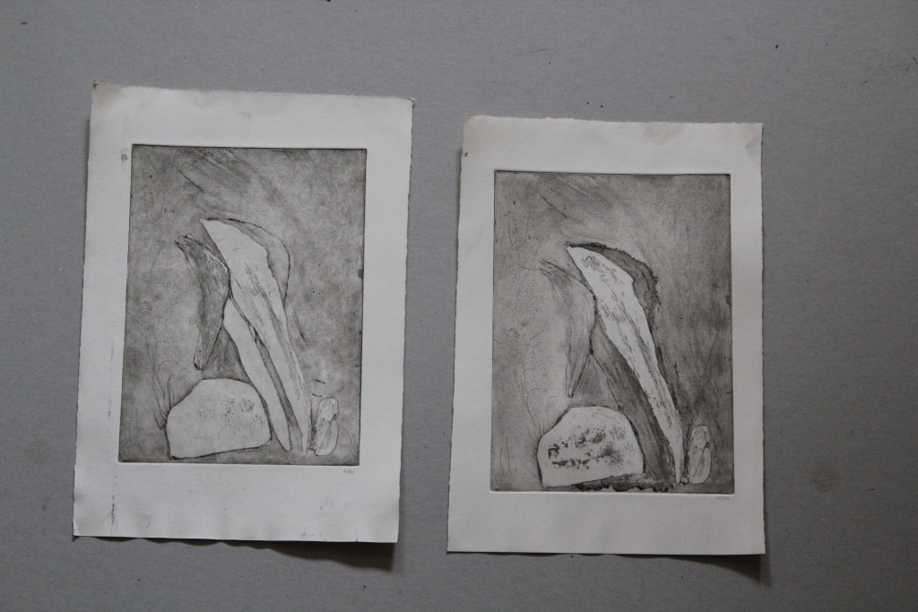 steinig, Radierung, 1982, 14,5 x 19,5