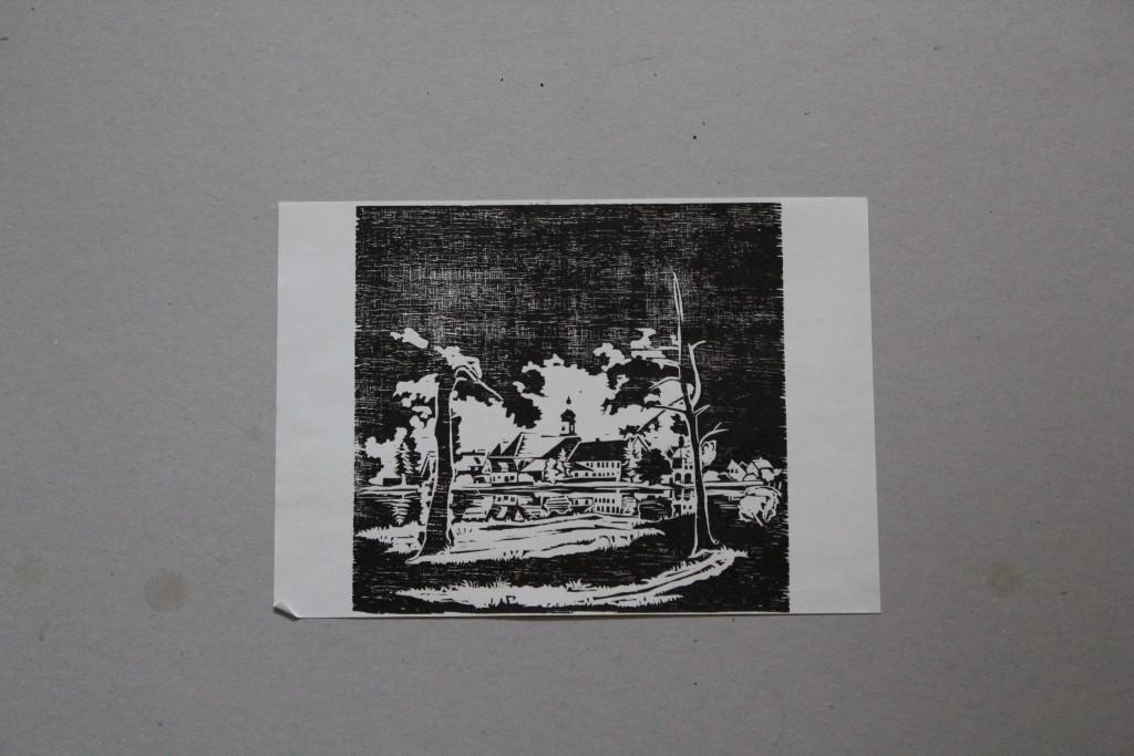 Vedute, Holzschnitt, 80-er Jahre, 21,5 x 20,5