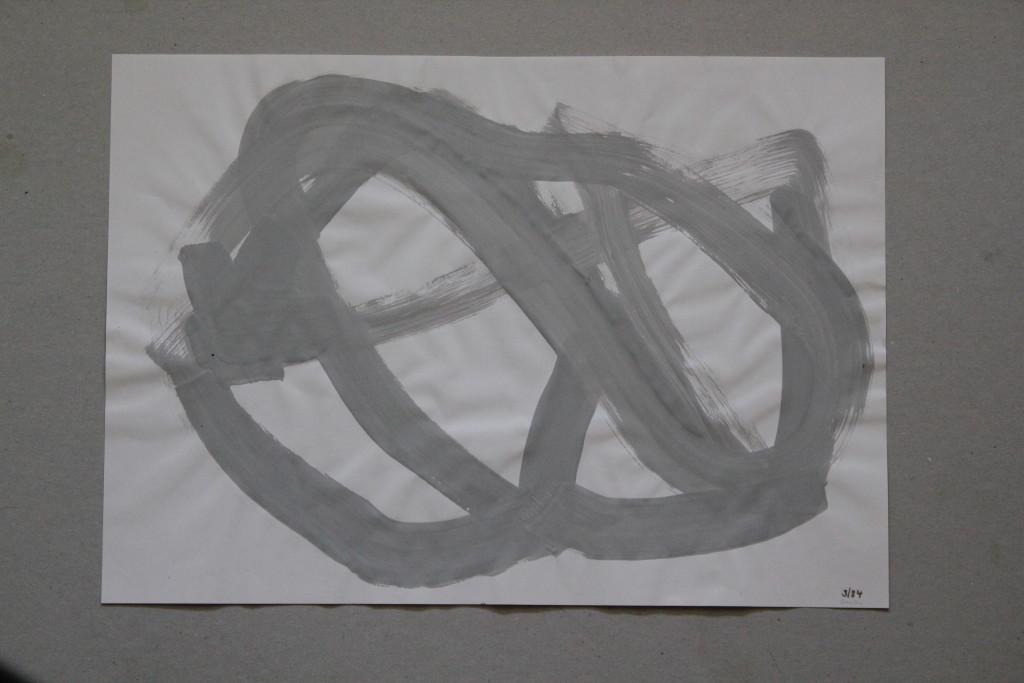 informel, Dispersion auf Papier, 1984, 42 x 29,7