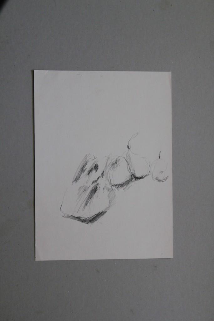 Stillleben, Bleistift auf Papier, 1981, 24 x 32