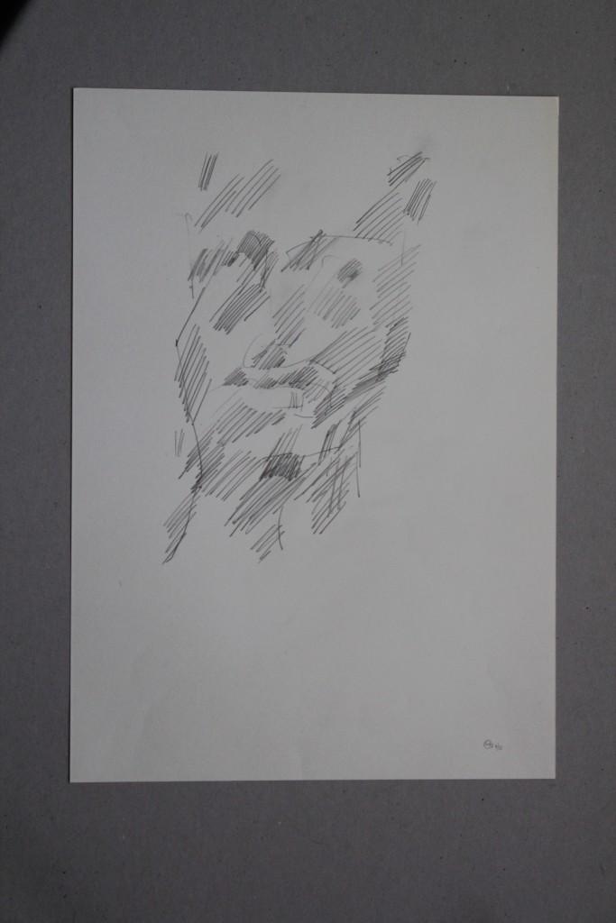 Portrait, Bleistift auf Papier, 1983, 37,5 x 45