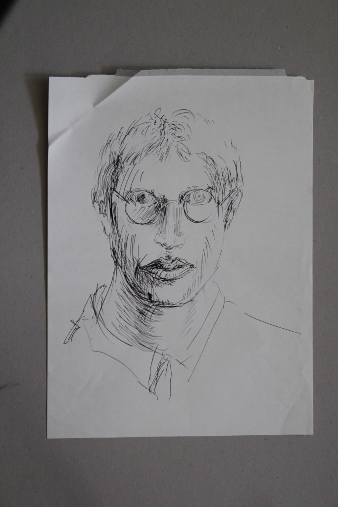 Selbst, Feder/Tusche auf Papier, 80-er Jahre, 29,7 x 40